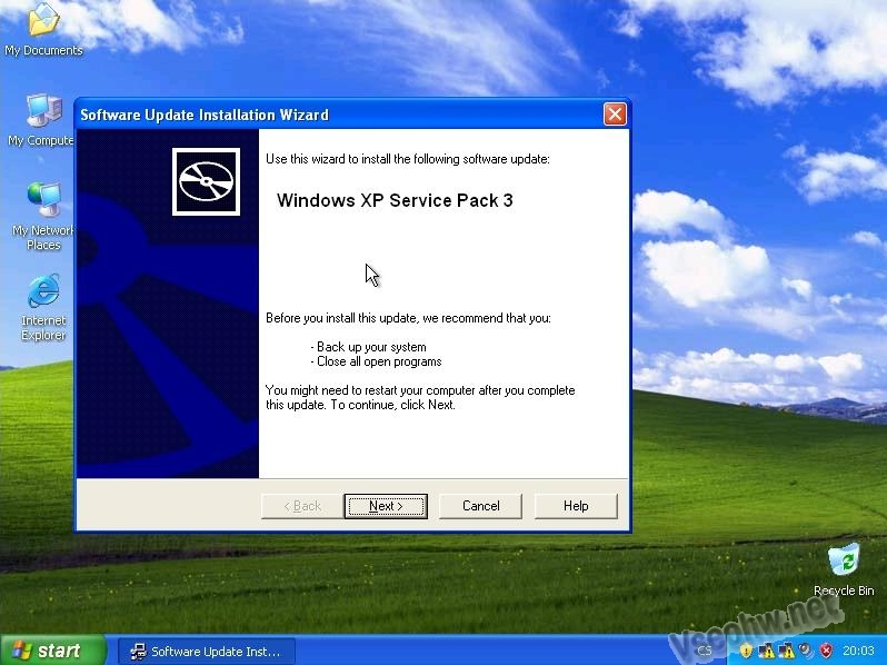 Instalace Service Pack 3 (SP3) na Windows XP - Vseohw.net
